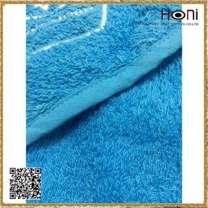 High Quality 100% Cotton Blue Bath Towel pictures & photos