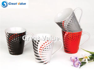 11oz V Shape Ceramic Gift Cups Coffee Mugs with Custom Design pictures & photos