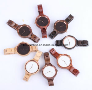 Handmade Quartz Cherry Wood Watches Mini Band Watch for Ladies pictures & photos