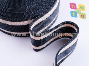 1-1/2 Inch Nylon Twisted Yarn Striped Webbing for Bag or Garment pictures & photos