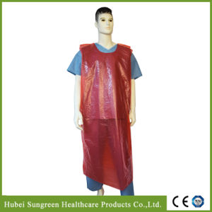 Disposable Waterproof PE Vest Gown, PE Smock pictures & photos