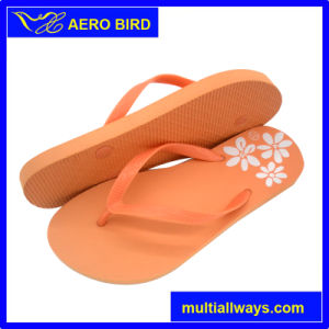 Plain Sole Slipper with Follower for Lady (T1699) pictures & photos