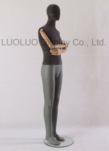 Good Quality Linen Wrapped Male Mannequin with Wooden Arms