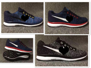 New Fashion Flyknit Breathable Man and Women Casual Sport Shoes pictures & photos