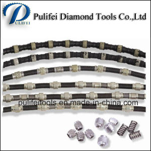 Diamond Wire Saw Beads Plastic Coating Rubber Wire Saw pictures & photos