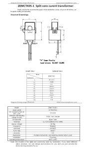 10mm Hole 3000: 1 0.5class Split Core Current Sensor/ Current Transducer for Power Measurment pictures & photos