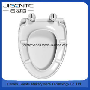 European V Shape Urea Toilet Seat Cover with Sofy-Closed pictures & photos