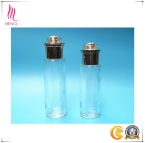 High Transparency Glass Bottle with Shining Screw Cap pictures & photos
