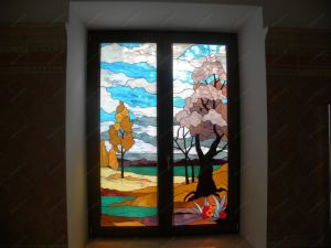 Facotry Supply Church Double Glass Mosaic Art Window pictures & photos