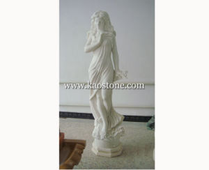 White Marble Stone Carved Fine Woman Figure Sculpture for Decoration pictures & photos
