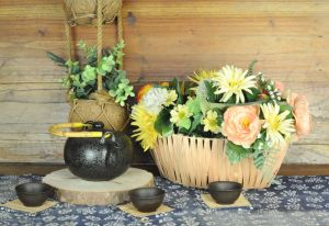 Boat Shape Natural Woodchip Flower Pot pictures & photos