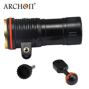 Archon Wm26 5200 Lumen Professional Video Light 1600 Lumen White Spot Light 300 Lumen Red LED 9W Blue LED Two-in-One Diving Spot Video Light with Ys-24 Mount pictures & photos