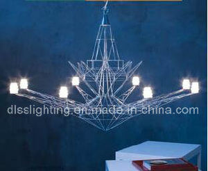 Creative Personality Design Iron Art Suspension LED Eiffel Tower Chandelier pictures & photos
