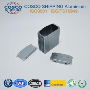 Aluminum/Aluminium Extrusion for Car Amplifier Enclosure with Sand Blasting Anodziing pictures & photos