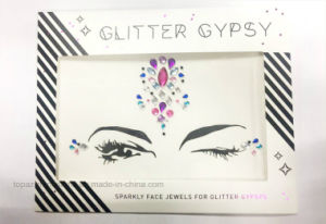 Eco Friendly Tattoo Stickers Rhinestone Face Eye Decorative Eye Crystal Stickers (TS-514 Eye sticker) pictures & photos