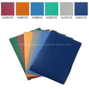 Orange Indoor Antiskid PVC Flooring for Tennis Basketball Sports Court 4.5mm pictures & photos