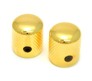 Gold Plated Brass Metal Knurled Control Knob for Electric Guitar pictures & photos