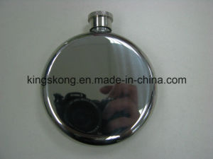 5oz Round Shape Stainless Steel Hip Flask pictures & photos