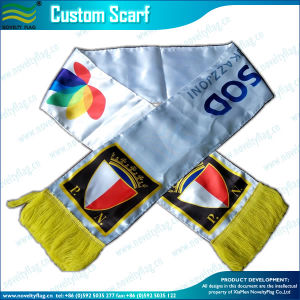 Long Silk Satin Sport Printed Gift Scarf (T-NF19F10004) pictures & photos