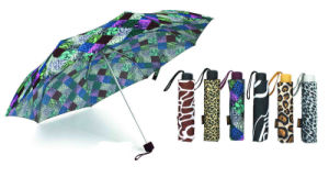 Animal Skin Skirt Windproof Compact Umbrella (YS-3FA22083906R) pictures & photos