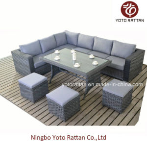 Wicker Furniture Sofa Set with Table (1504) pictures & photos