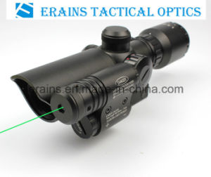 Compact 1.5-5X32 Rifle Scope Red Green Mil-DOT Reticle with Attached Green Laser Sight pictures & photos