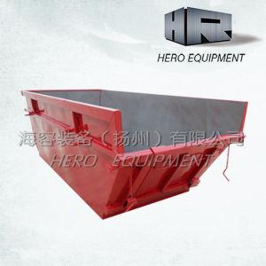 6cbm Steel Skip /Waste/Rubbish/Trash/Dumper/Chain Lift Bin with Barrow Door