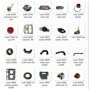 Whole Set Japanese Tractor Spare Parts From China pictures & photos