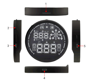 Car Hud Head up Display, Fuel Consumption Meter pictures & photos