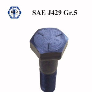 SAE J429 Grade 5 Hex Bolt Black Particial Thread Cap Screws pictures & photos