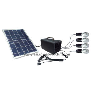 Indoor and Outdoor Portable Mini Solar System with Mobile Charger pictures & photos