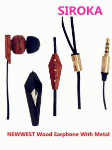Super Sound Metal Stereo Earphone with Mic for Mobile Phone pictures & photos