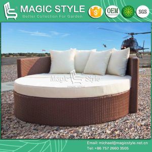 Wicker Sunbed with Cushion Rattan Daybed Outdoor Sofa Garden Sunbed Beach Daybed Deck Daybed pictures & photos