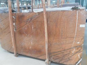 Rain Forest Brown Marble Slab for Countertops and Building Materials