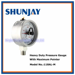 All Stainless Steel Pressure Gauge with Maximum Pointer