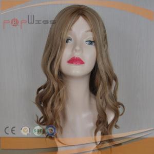 100% Human Remy Virgin Blond Wig Wavy Silk Top Women Wig pictures & photos