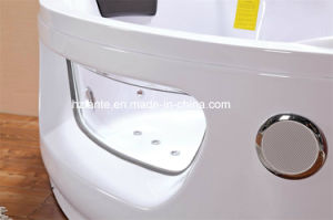Indoor Corner Jacuzzi Bathtub with Two Loudspeaker (CDT-001) pictures & photos