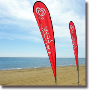 Outdoor Digital Printing Beach Banner pictures & photos