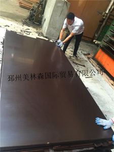 Building Material Poplar Brown Phenolic Film Faced Plywood pictures & photos