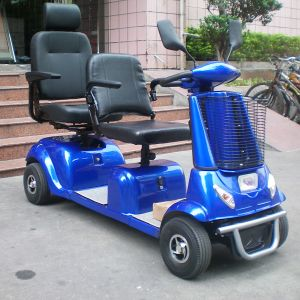 4 Wheel 2 Seats Electric Mobility Scooter for Elderly and Disabled People pictures & photos