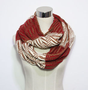 Lady Fashion Color Block Acrylic Knitted Winter Infinity Scarf (YKY4389) pictures & photos
