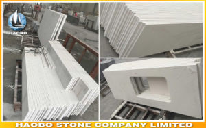 Pure White Quartz Countertop and Vanity Top Wholesale pictures & photos