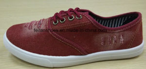 Lady Latest Cotton Polyester Denim Fabric Injection Sport Shoes (FF516-4) pictures & photos