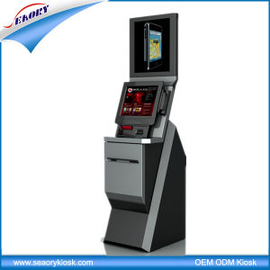 Customzied Lobby Standing Dual Screen Self Service Kiosk pictures & photos