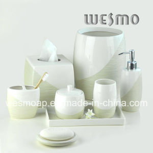 Metallic Paint Porcelain Bathroom Set (WBC0710A) pictures & photos