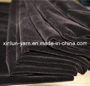 100% Polyester Knitted Plain Dyed Flocking Fabric pictures & photos