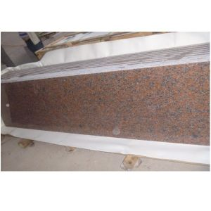 Natural Stone Red Color Granite Countertop pictures & photos