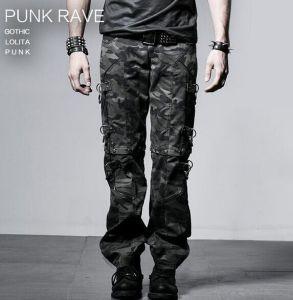 Punk Rave Pure Cotton Camouflage Military Uniform Mens Trousers (K-190) pictures & photos