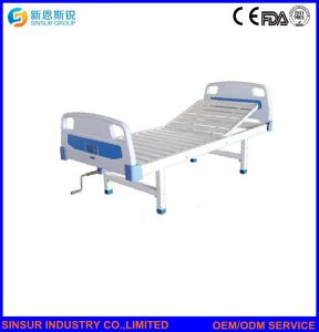 Cheap Medical Furniture Manual Single Shake Adjustable Hospital Beds pictures & photos