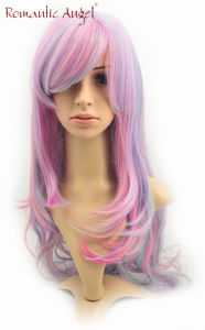 Synthetic Colorful Beatiful Color Fashion Long Style Curly Halloween Wig pictures & photos